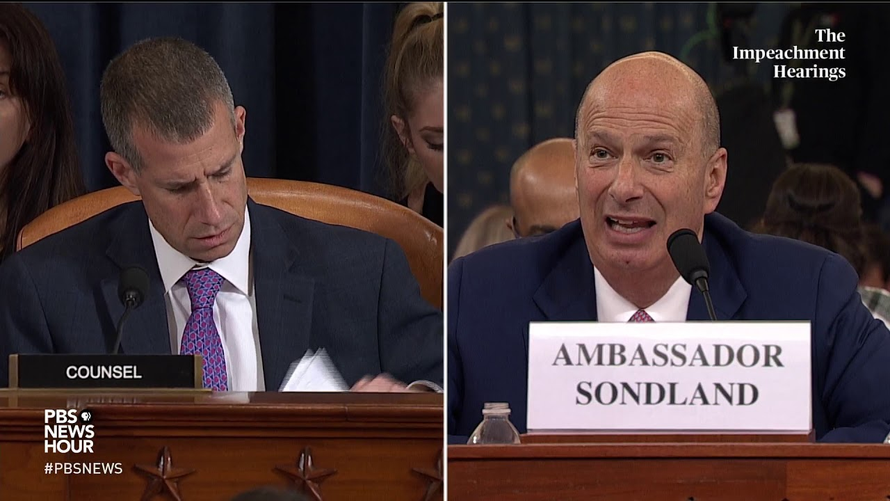 WATCH: Republican counsel's full questioning of Gordon Sondland | Trump impeachment hearings