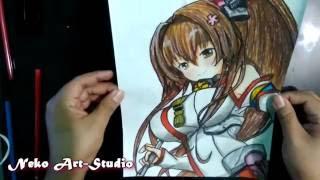 Drawing Yamato / Dibujando a Yamato (Kancolle)