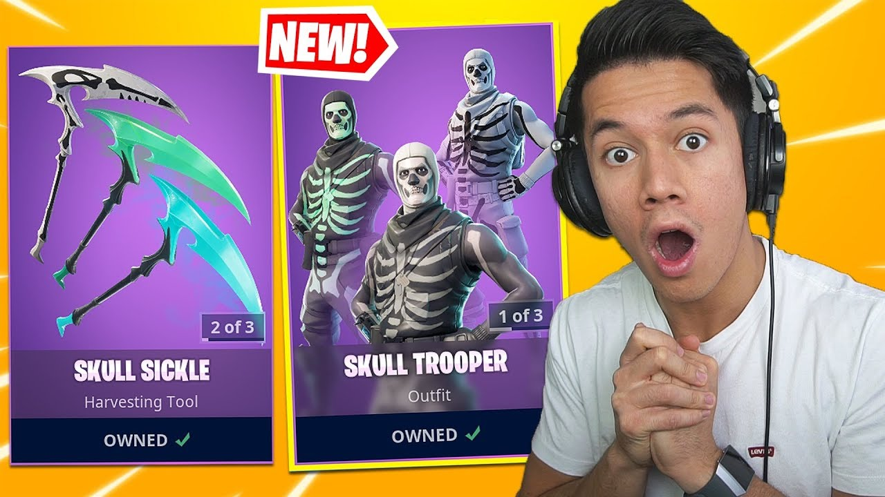 NY SKULL TROOPER & PICKAXE I ITEM SHOP! - FORTNITE DANSK