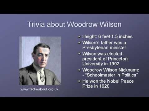 President Woodrow Wilson Biography