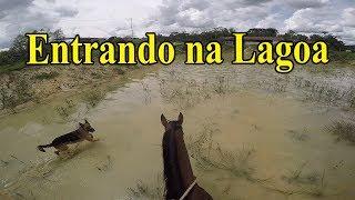 Entrando na Lagoa com Fly, Trovão e Zaya