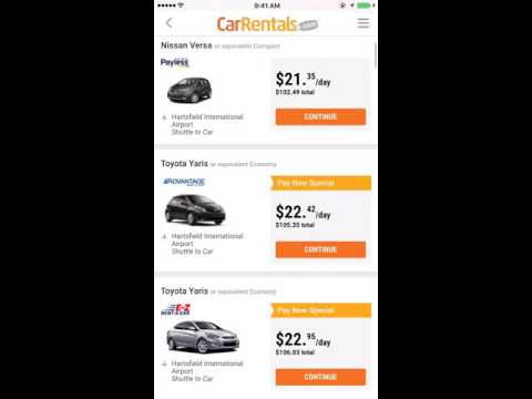 Car Rentals App - Rent A Car TODAY!