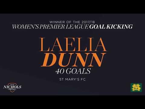 2017/18 Nichols Medal - Women's Premier League - Leading Goal Kicker: Laelia Dunn