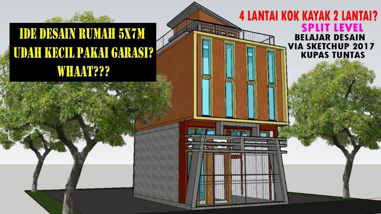 Desain Rumah Kecil Dan Unik Ukuran 5x7 Split Level Garasi Via