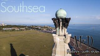 Aerial footage of Southsea, UK