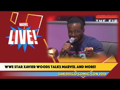 WWE Wrestler Xavier Woods Crashes Marvel Live at SDCC 2018