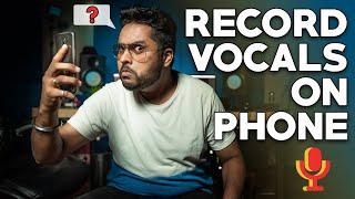 Recording RAP VOCALS in MOBILE PHONE! BEST QUALITY? (MIX RAP VOCALS 2020)