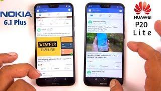 Nokia 6.1 Plus vs Huawei P20 Lite Speed Test Comparison [Urdu/Hindi]