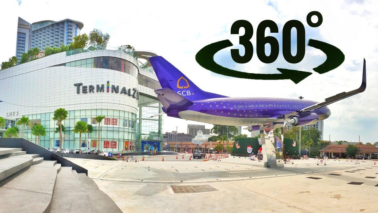 🇹🇭 360 video VR TERMINAL 21 Thailand Best Shopping Mall Pattaya | Bangkok Biggest New 3D Guided Tour