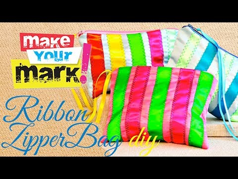 How to: Ribbon Zipper Bag (fully lined)