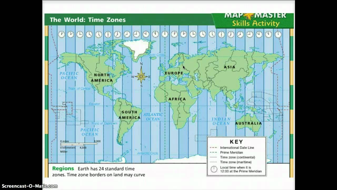 Time Zones with songs videos worksheets games activities – Time Zone Worksheet