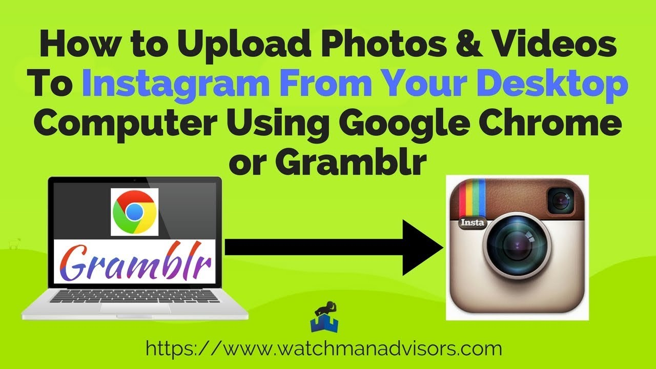 How to upload photos to instagram from your desktop  computer*EASY*(2018)Chrome