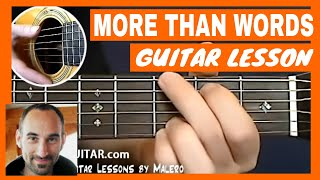 More Than Words Guitar Lesson - part 1 of 4
