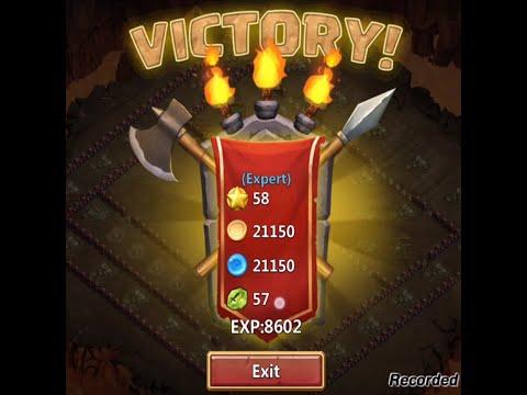 Castle Clash Dungeon 40 VS (Expert)Dungeon 57