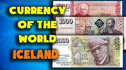 Currency of the world - Iceland. Icelandic krona. Exchange rates Iceland. Icelandic banknotes
