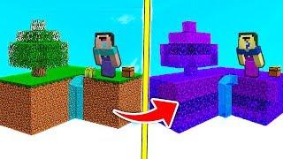 СКАЙБЛОК против ОСТРОВА из ПОРТАЛОВ В Майнкрафте! Minecraft Мультики Майнкрафт троллинг Нуб и Про
