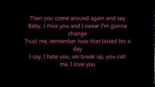Taylor Swift - We Are Never Ever Getting Back Together lyrics