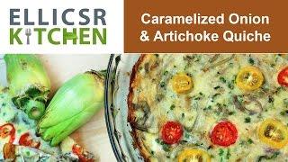 Caramelized Onion & Artichoke Quiche