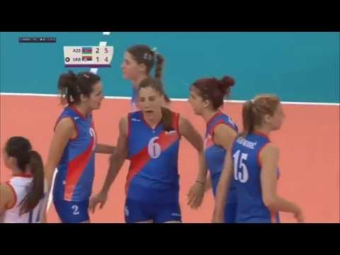 Serbia vs Azerbaijan   Bronze Medal Match   Volleyball Women   Baku European Game 2015 06 27