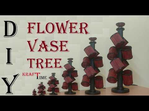 DIY | Flower Vase Tree | Basket Organizer Rack | Table Decoration | Newspaper Craft