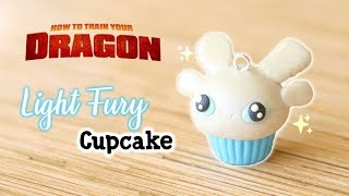 Light Fury Cupcake│Polymer Clay Tutorial (How To Train Your Dragon)