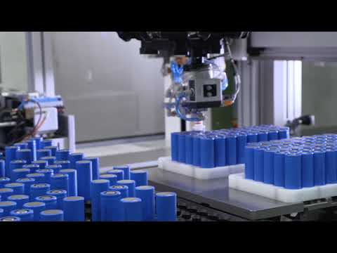 Cylindrical Battery Pack Sorting & Welding Equipment -- Mondragon Assembly