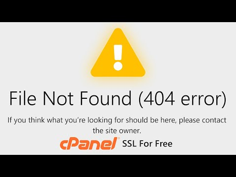 File Not Found (404 Error) SSL For Free Verification SOLVED!