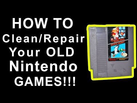 HOW TO Clean and REPAIR Your Old NINTENDO GAMES!!