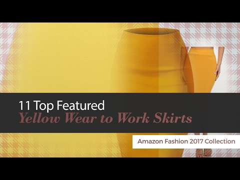 11 Top Featured Yellow Wear to Work Skirts Amazon Fashion 2017 Collection