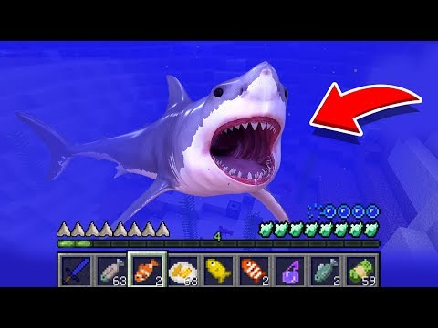 Minecraft: How To Play SHARK In Minecraft! REAL LIFE SHARK! Battle NOOB VS PRO Animation