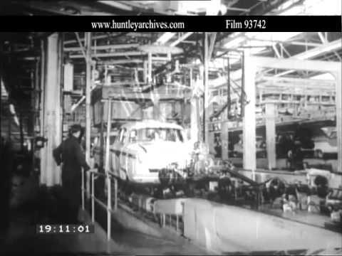 Austin plant at Longbridge, 1950's.  Archive film 93742