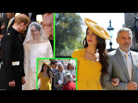 Amal Clooney and husband George lead the best celebrity fashion at the Royal Wedding