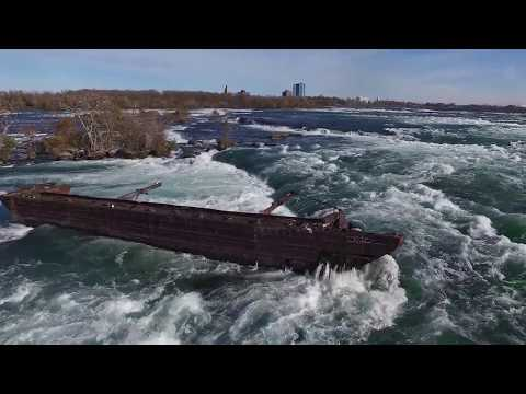 Old Scow & Toronto Power Generating Station on Niagara River