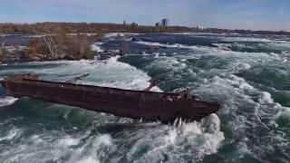 Old Scow & Toronto Power Generating Station on Niagara River