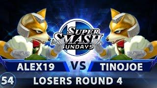 sss 54 alex19 fox vs b2s tinojoe fox ssbm top 32 lr4 smash melee