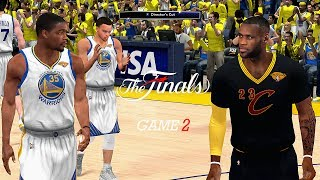 NBA 2K14 PC 2017 Finals Updated Rosters │Cavaliers vs Warriors│Game 2│ ESPN MOD HD