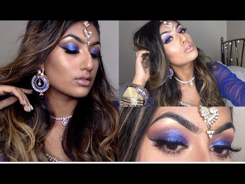 CHATTY TUTORIAL: DIWALI / INDIAN WEDDING ROYAL BLUE GLAM