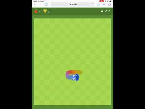 Google Rainbow Snake Gameplay