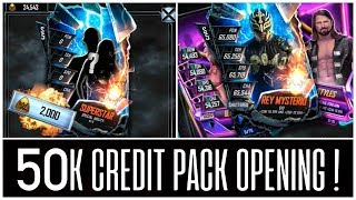 SHATTERED IN A PACK!! 50K CREDIT PACK OPENING | WWE SuperCard