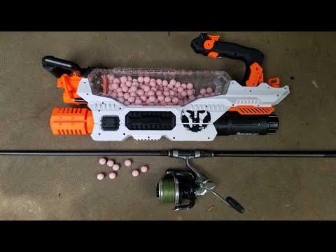 Fishing With Nerf Gun - Making A Boilie Gun For Carp & Catfish Bait