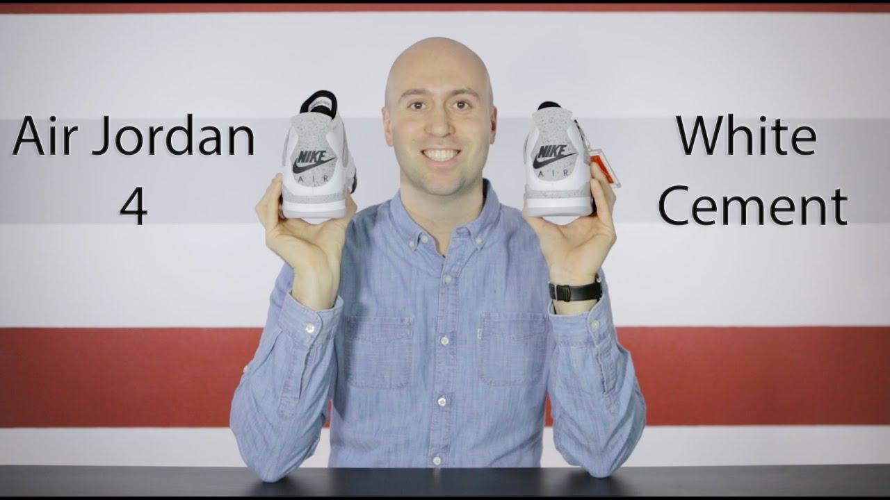 8ea4066916560c Air Jordan 4 OG White Cement - Unboxing + Review + On feet + Close up - Mr  Stoltz 2016