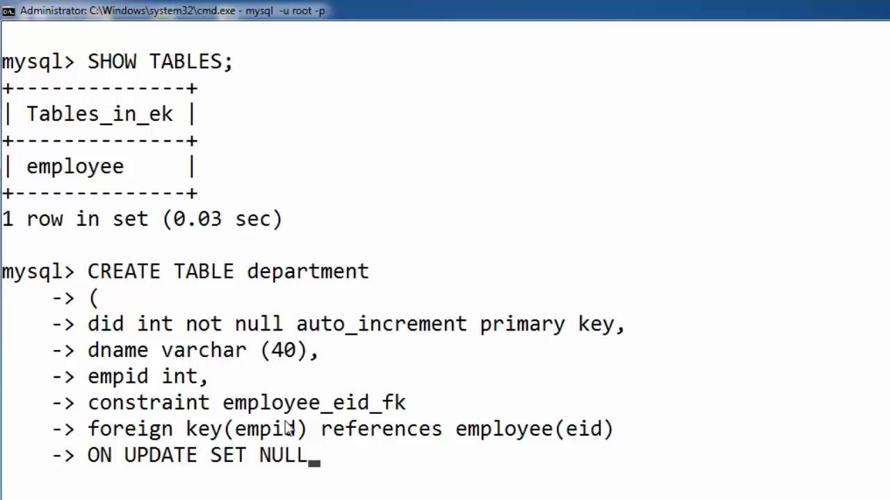 ON UPDATE SET NULL in SQL (Hindi)  sc 1 st  YouTube & 118. ON UPDATE SET NULL in SQL (Hindi) - YouTube