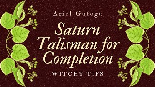A Saturn Talisman To Successfully Complete Anything -  Witchy Tips