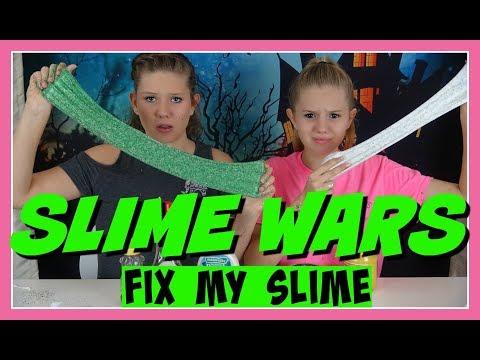 SLIME WARS || FIX MY SLIME CHALLENGE || Taylor and Vanessa
