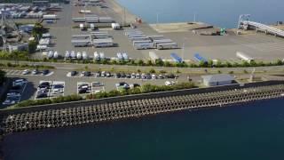 【ノーカット 4Kドローン空撮】敦賀新港を勇気を出して空撮してみた! thumbnail