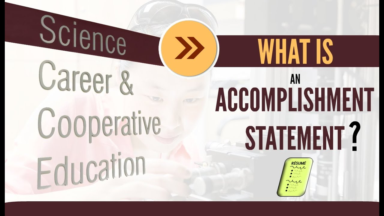 career faqs what is an accomplishment statement career faqs what is an accomplishment statement