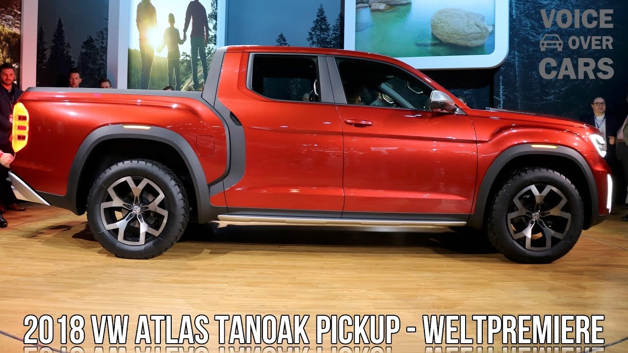 2018 Volkswagen Atlas Tanoak Pickup Usa Weltpremiere Nyias 2018