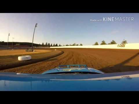 Dodge Neon #23, heat race, Grays Harbor Raceway, 7/15/17