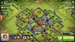 Clash of Clans - Town Hall 9 TITAN Player crushing Town Hall 10s surgical loonion