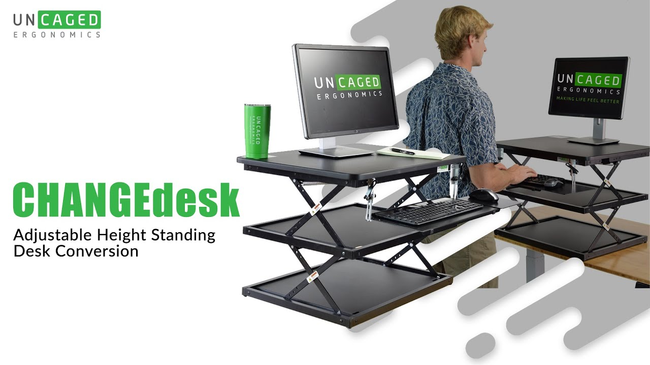 Changedesk Tall Affordable Adjule Height Standing Desk Conversion For Desktop Computers